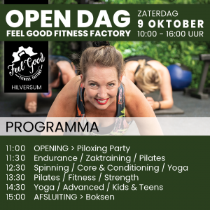 Programma Open Dag Feel Good Fitness Factory - Sportschool Hilversum